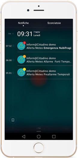 Notifica App Allerte meteo
