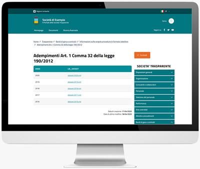 Modulo ANAC Adempimenti Legge 190/2012